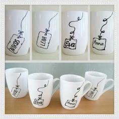 handcrafts: Χειροποίητα ζωγραφιστά φλυντζάνια! Hand-painted mugs, painted mugs…