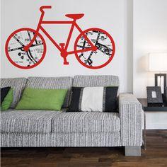 road bike wall sticker