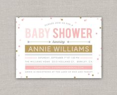 Confetti Baby Shower Invitation by announcingyou on Etsy