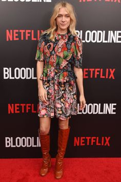 Who: Chloe Sevigny What: Knee High Boots Why: The actress is Spring ready in an abstract floral Louie Vuitton look, paired with knee-high brown leather boots—an ideal transitional combination. Get the look now: Laurence Dacade boots, $1,190, modaoperandi.com.