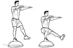 Bosu Ball Single-Leg / Pistol Squats