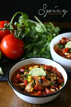 Spicy Chicken Lime Soup by Nutmeg Nanny