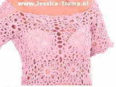 free crochet patterns for womens clothes crocheted with motifs