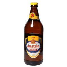 Cerveja Áustria Lager, estilo Premium American Lager, produzida por Krug Bier, Brasil. 4.8% ABV de álcool.