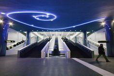 Mario Botta, stazioni dell'arte, Stazione Vanvitelli, Napoli.