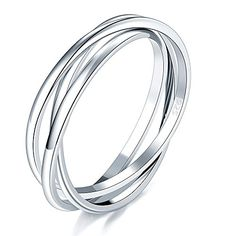 5x5mm 3 Rings 10 Sterling Silver Tri Cluster Links