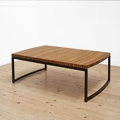 Uhuru :: Iris Coffee Table :: Love the very slight curve that the reclaimed barrel oak give the overall structure.