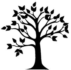 A beautiful tree mural with very little painting required. You can create a tree mural design using the concept from my previous post. Find yourself a tree shape outline. Family Tree Mural, Free Family Tree, Family Trees, Tree Outline, Tree Templates, Tree Quilt, Home Goods Decor, Tree Shapes, Tree Silhouette