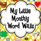 """After many requests, I've finally created mini """"word walls"""" to coordinate with my monthly Little Books. These are perfect for students to refer to ..."""