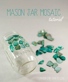 Let's not waste anything in case those wine bottles break while drilling!  Tutorial, mason-jar-mosaic-4