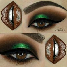 I just found this look I have done few weeks ago and I paired it with the chocolate milkshake and hot frozen chocolate melted lipsticks from The eye look was created with Dark Matter stack and palette to give life to the upper eyelids Green Smokey Eye, Smokey Eyes, Makeup Goals, Makeup Tips, Beauty Makeup, Pretty Makeup, Love Makeup, Eyeliner, Eyeshadow Makeup
