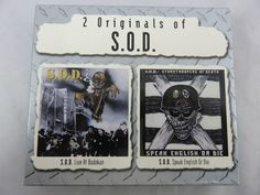 S.O.D. Live at Budokan & S.O.D. Speak English Or die, Rock Hardcore 2 CD BOX