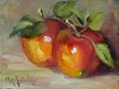 Painting Of Delicious Apples Art Print by Cheri Wollenberg