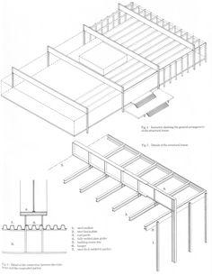 En Detalle: Especial Mies,Detalle estructura Crown Hall (1956)