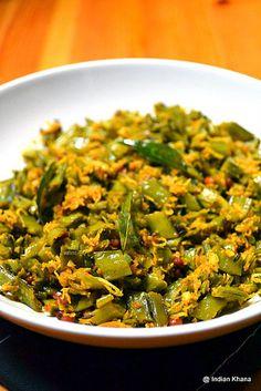 Cluster Beans Stir Fry | Kothavarangai Poriyal ~ Indian Khana
