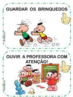 Combinados turma da Monica Professor, Childhood Memories, Preschool, Study, Education, Comics, Bingo, Alice, Classroom Routines