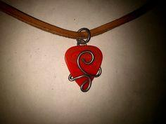 Guitar Pick Holder Pendant Necklace