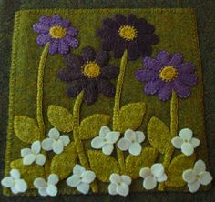 Hand dyed purple green rug hooking wool by HorseAndBuggyCountry