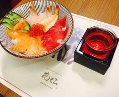 Desde hoy y hasta el 5 de febrero #Hanakura ofrece su menú de #TasteofJapan Restaurant Week kaisen Don con arroz sasanishiki y sake por 15.