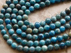 8mm Apatite Round Polished Semi-Precious Beads, Half Strand (IND4C44) Semi Precious Beads, Turquoise Bracelet, Unique Jewelry, Bracelets, Handmade Gifts, Etsy, Vintage, Kid Craft Gifts, Craft Gifts