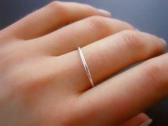 Anello in argento anello d'argento sottile magro di annikabella