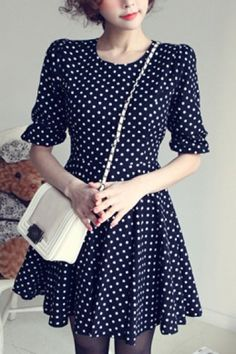 Polka Dots Print Dress