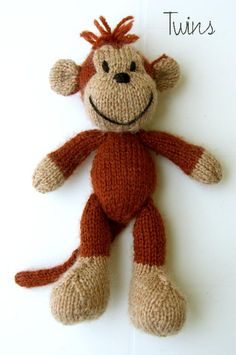 Twins' Knitting Pattern MiniShop: Titus the Monkey (in English)