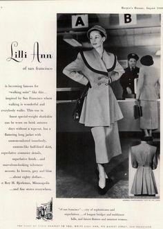Lilli Ann Ad 1949 Harper's Bazaar