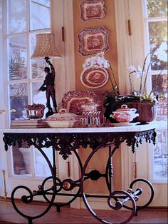 Vintage Interior Design My absolutely favorite designer! This is a perfect fit for our keeping room wall with a pair of double French doors Interior Design by Charles Faudree French Decor, French Country Decorating, Tableaux Vivants, Halls, Door Design Interior, Nordic Interior, Double French Doors, Décor Antique, French Country House