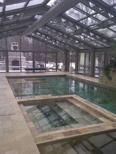 Indoor Pool and Spa with Chill Pool in Ontario. Energy efficient geothermal