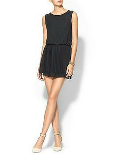 BCBGeneration Dress With Pleated Skirt | Piperlime