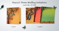 Make your marriage a blissful ceremony with our popular Hindu wedding invitations. Browse Indian Wedding Cards in our catalogs and select your card. Wedding Card Design, Wedding Invitation Design, Peacock Wedding Invitations, Indian Wedding Cards, Peacock Theme, Groom Suits, Groom Attire, Nature Prints, Groom Style