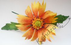 Мастер-класс изготовления цветка гайлардии из фоамирана, пошаговые фото