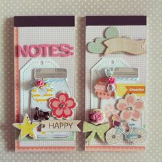 Dear Lizzy inspired notepads by Jo's scrap journey..
