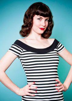 Marilyn Tee - Stripes - Heart of Haute  - 1