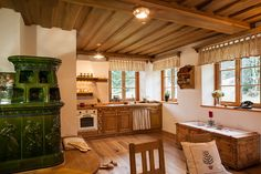 Country Kitchen, Valance Curtains, Rustic Decor, Pergola, Cottage, House Design, Interior Design, Architecture, Building
