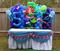 Little Mermaid Balloon decorations