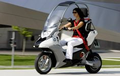I want to buy a scooter. This BMW C1 is fully loaded: anti-lock brakes, sunroof, heated seat and grips, plus more.