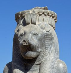 """amntenofre: """"  detail of one of the statues of the Goddess Sekhmet…"""