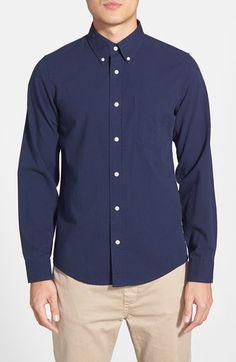 Men's Jack Spade 'Harnett' Trim Fit Seersucker Sport Shirt