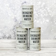 Emergency Drinking Water  by Lackluster Co. - vintage military man cave decor