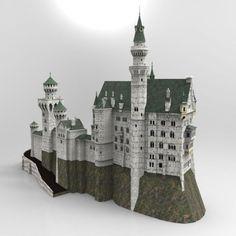 Neuschwanstein Castle   3D Models for Poser and Daz Studio