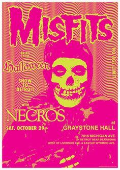MISFITS - NECROS - 29 October 1983 Detroit - retro artistic concert poster