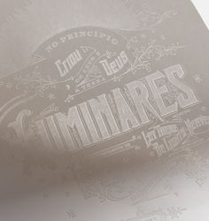 Hot stamped on Gruppo Cordenons Moondream paper, which turns transparent upon hot stamping.