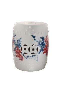 Porcelana Chinesa Pintada Motivo Pássaros e Flores