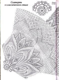 View album on Yandex. Crochet Patterns Filet, Crochet Tablecloth Pattern, Crochet Doily Diagram, Crochet Mandala, Crochet Patterns Amigurumi, Filet Crochet, Crochet Doilies, Crochet Flowers, Crochet Books