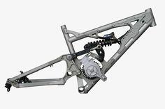 Though metallic Aluminum bicycle frame