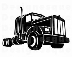 Clipart Of Trailer, Semi And Vehicles - Flatbed Truck - Free Transparent  PNG Clipart Images Download