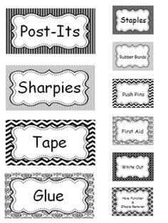 Teacher Toolbox (Black & White Themed) Red Classroom, Classroom Labels, Classroom Setup, Classroom Design, Future Classroom, School Classroom, Classroom Libraries, Lesson Plan Organization, Teacher Organization