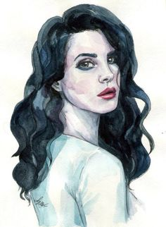Lana Del Rey in watercolor